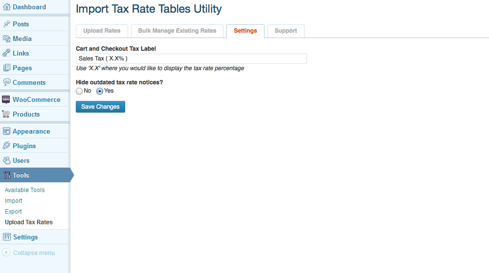 Adjust the tax label that is displayed on your checkout pages